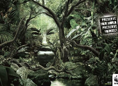 Рекламный щит по защите природы