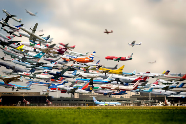 Фото всех взлетов за 24 часа из аэропорта г. Ганновера