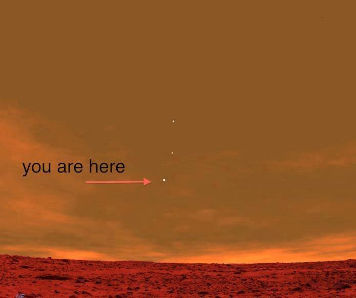 Так выглядит Земля с поверхности Марса