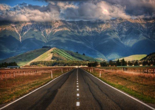 Дорога в Новой Зеландии