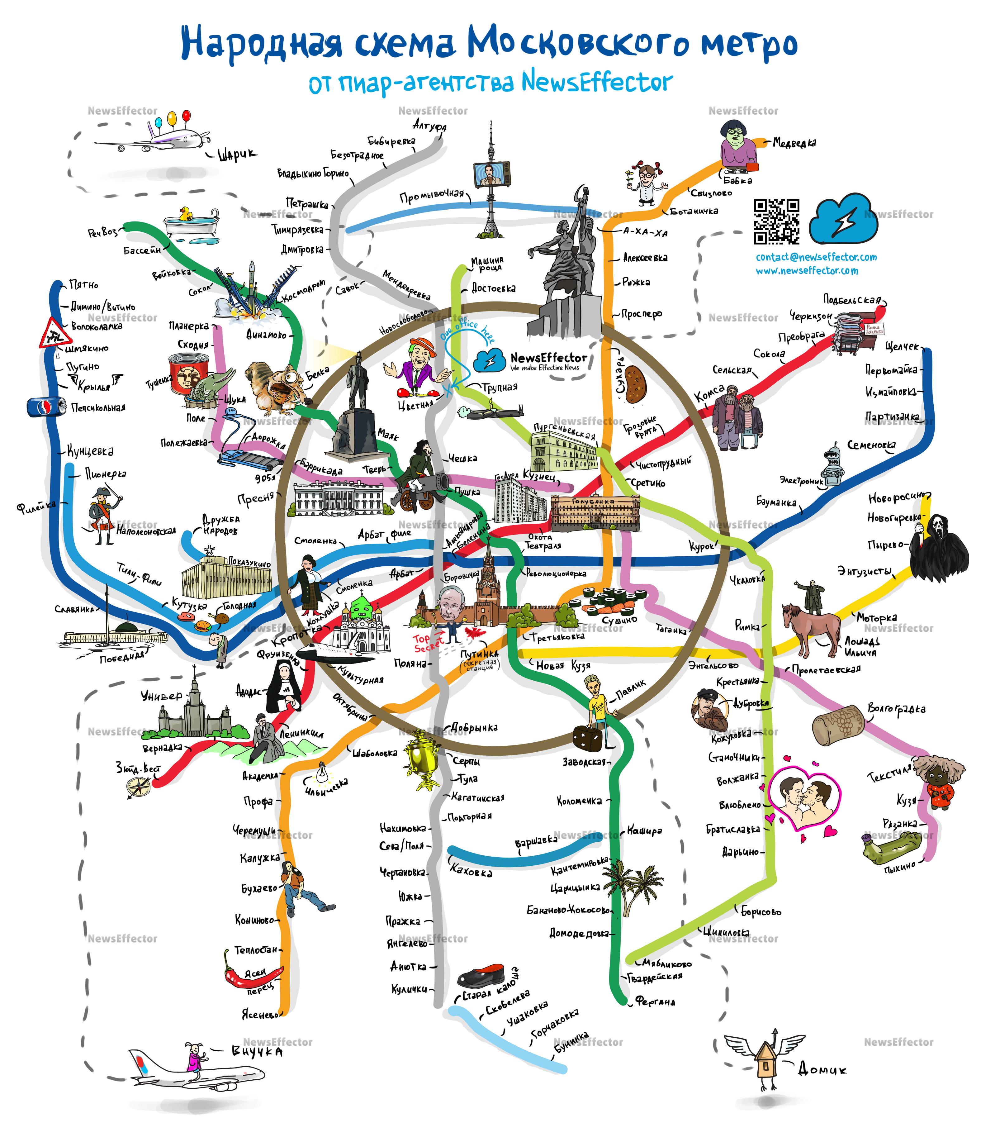 Неформальная карта метро