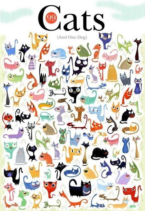 Найди одну собаку среди 99 котов