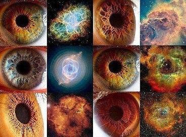 Строение нашего глаза  и наша вселенная удивительно похожи