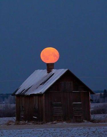 Луна присела немного отдохнуть