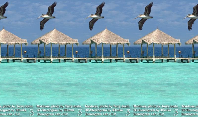 Мальдивы, стереограмма