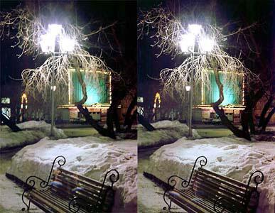 «Скамейка, ночь»