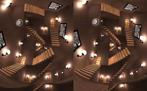 «Лестницы Эшера», Автор идеи - Эшер. Автор 3d - О. Алексенко г. Киев