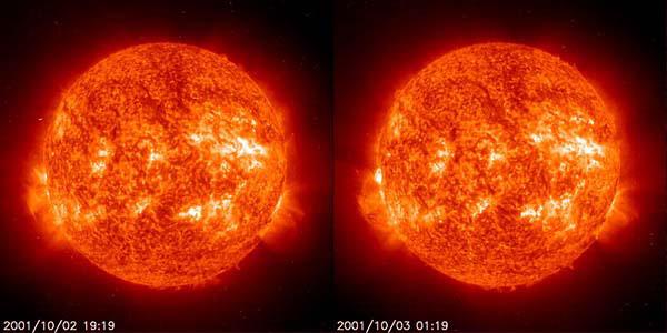 Солнце в УФ лучах