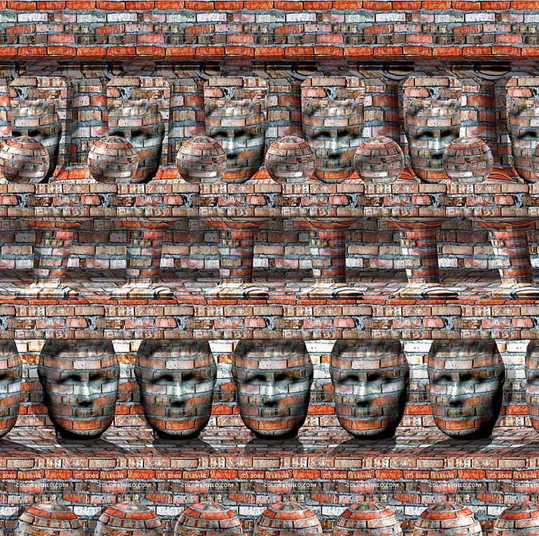 Стереограмма Gene Levine. Массоны