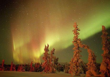 Полярное сияние на Аляске