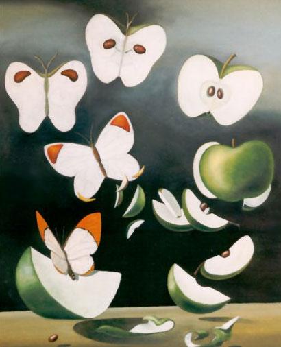 Бабочки и яблоки