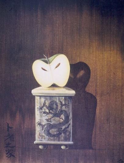 Невозможная тень от яблока