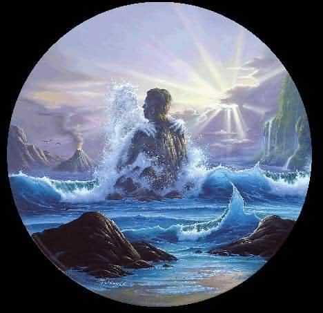 Парочка из волны и скалы