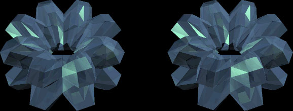 Стереограмма кристалла