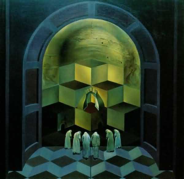 Череп или сцена у невозможного куба?