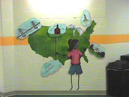 Иллюзия глубины на стене