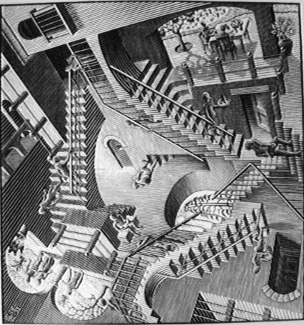 Здание с невозможными лестницами