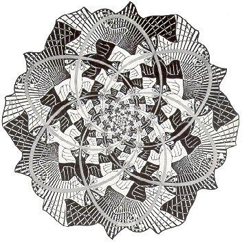 Эшер, мозаика