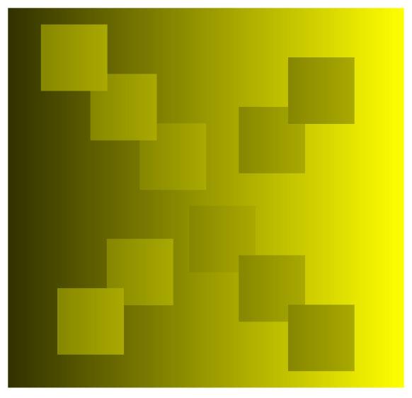 Золотые квадратики