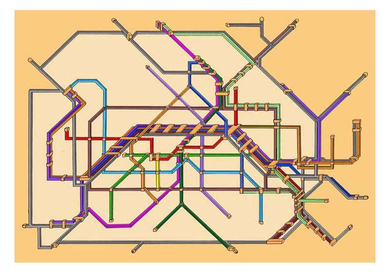 Карта берлинского метро из невозможных фигур