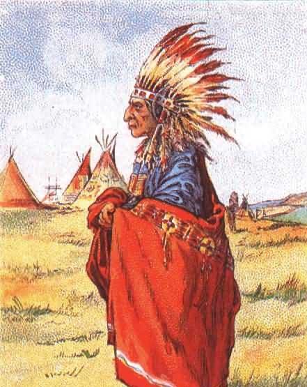 Индеец и тамагавк