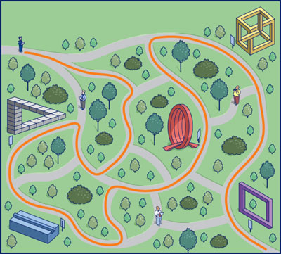 Карта с невозможными объектами