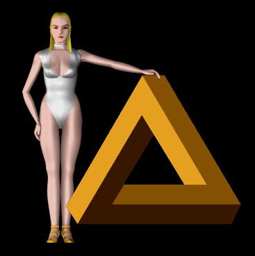 Девушка с невозможным треугольником