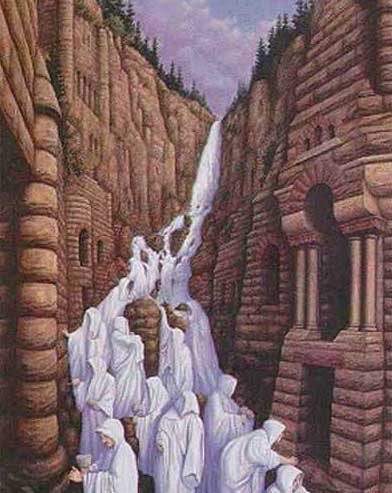 Водопад из монахов