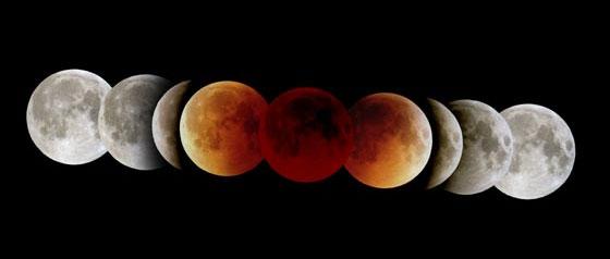 Цвет луны при затмении