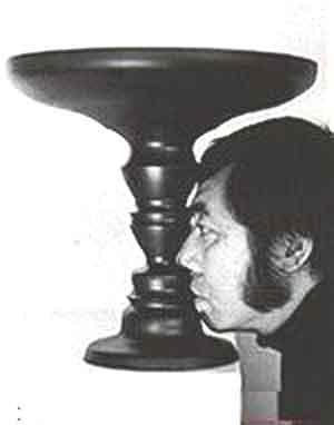 Rubin vase. (Edgar Rubin, 1915)
