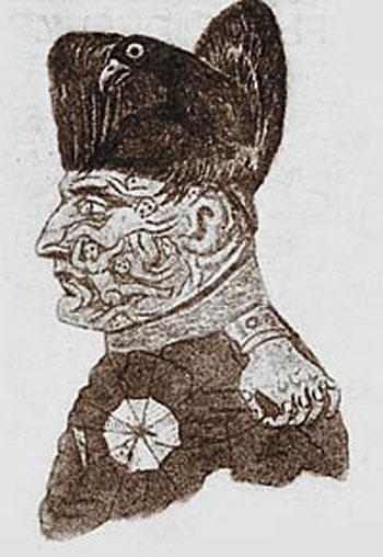 Карикатура на Наполеона