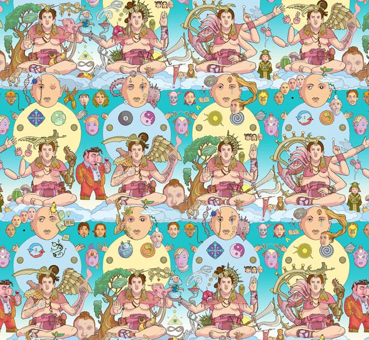 Будда. Мозаика Сета Фишера