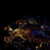 Ночная карта европейской части мира