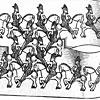 Horsemen. Escher.