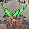 3d рисунки на улице