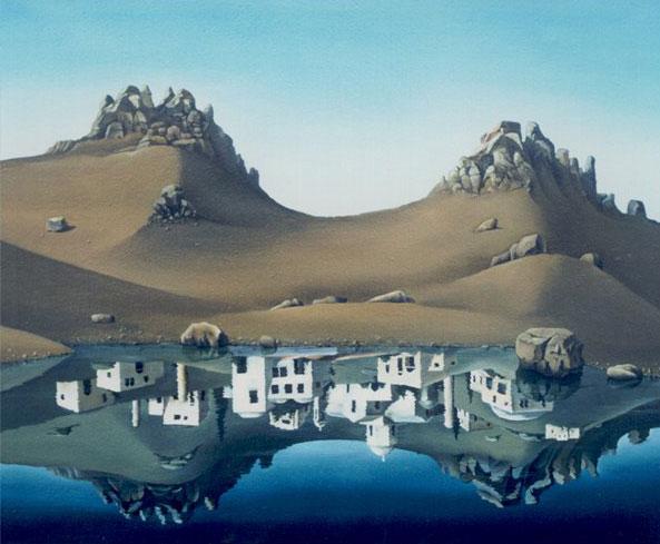 Отражение старого города
