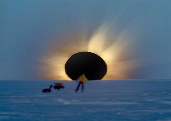 Затмение над Антарктидой