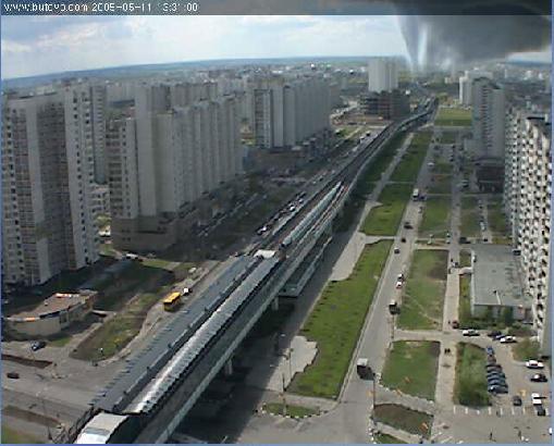 Иллюзия торнадо в Бутово