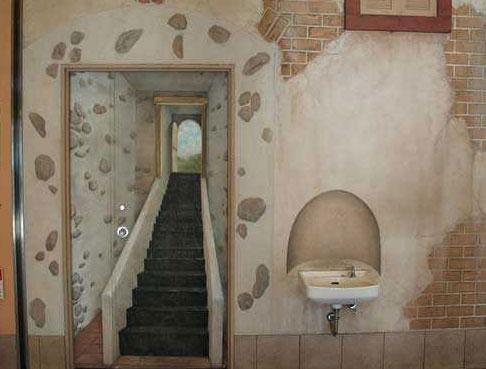 Рисунок на двери туалета