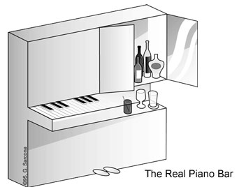 Бар в невозможном пианино