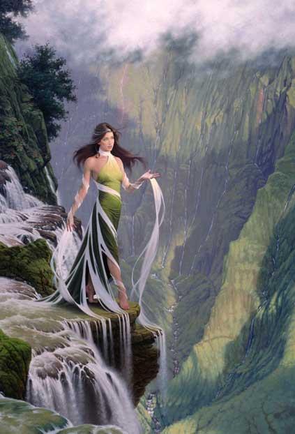 Девушка-водопад