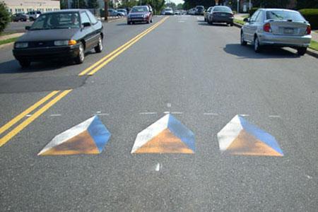 Оптические иллюзии на дороге