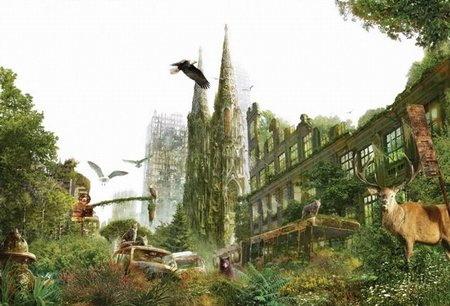 Города заполнились лесами и джунглями
