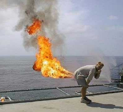 жопа во время газов