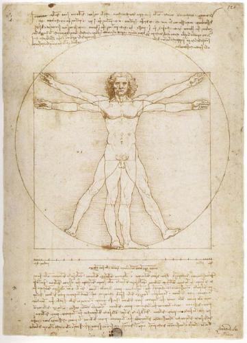 Леонардо Да Винчи. Витрувианский человек. 1490