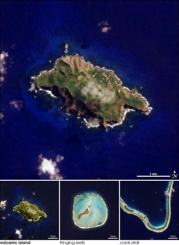 Маленькая страна остров Питкэрн со спутника