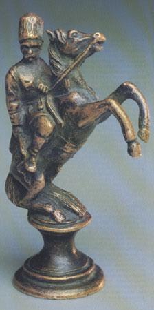 Всадник (Фигура, олицетворяющая коня). Бронза. С-Петербург. Из комплекта нач. XIX века