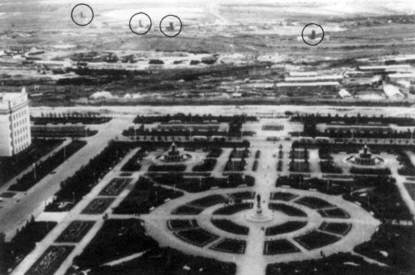 Отмечены шахты над подземным командным пунктом в Раменках (иллюстрация: Military forces in transition. DOD. 1991).