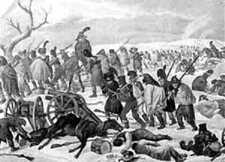 Бегство французов из России в 1812 году