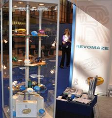 Головоломка Revomaze уже демонстрировалась на выставках, а в следующей раз она будет экспонироваться на The Gadget Show Live NEC Birmingham 2010, которое стартует 8 апреля